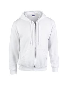 "Picture of ""HB Zip Hooded"" Mikina bílá"