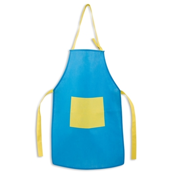 Picture of Apron for children. Non-woven: 80 g/m². Adjustable. With 1 pocket. 400 x 600 mm | Pocket: 200 x 150