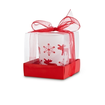 Picture of Candle. In glass candleholder. Box: 55 x 65 x 55 mm červená