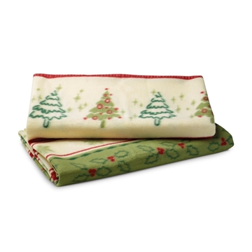 Picture of Blanket. Polar fleece: 200 g/m². With non-woven pouch: 80 g/m². 1580 x 1300 mm | Pouch: ø150 x 350 m