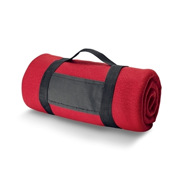 Picture of Blanket. Polar fleece: 180 g/m². With removable handle. 1500 x 1200 mm červená